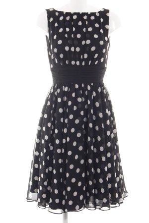 Swing Petticoatkleid schwarz-wollweiß Punktemuster Elegant