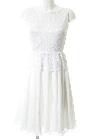 Swing Spitzenkleid weiß-wollweiß Elegant
