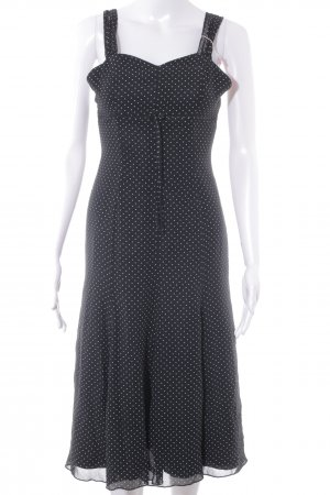 Swing Strandkleid schwarz-weiß Punktemuster Casual-Look