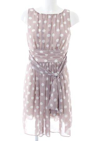 Swing Trägerkleid wollweiß-weiß Punktemuster Elegant