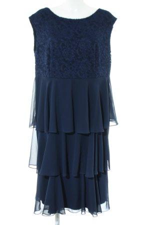 Swing Volantkleid blau Blumenmuster Elegant