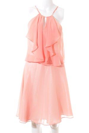 Swing Volante jurk zalm feest stijl