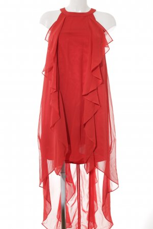 Swing Robe à volants rouge élégant