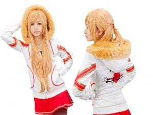 Sword Art Online Asuna Yuuki Hoodie Cosplay SAO Anime VR