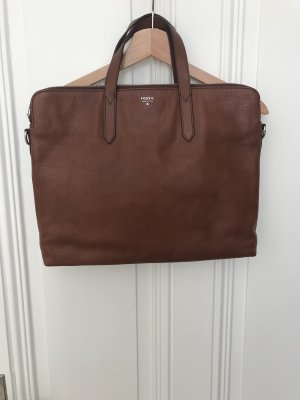Fossil Briefcase cognac-coloured-brown leather