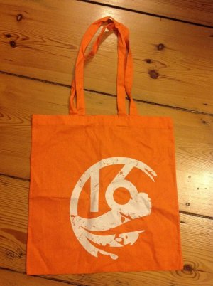 Canvas Bag white-light orange