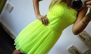 Vestido bustier verde pradera tejido mezclado
