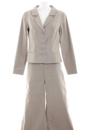 Sylvia Heise Traje de pantalón blanco puro look casual