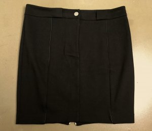 Alexander Wang Pencil Skirt black-silver-colored mixture fibre
