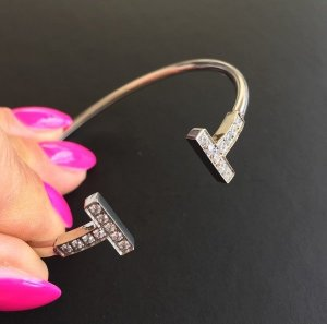 Bangle silver-colored-white stainless steel