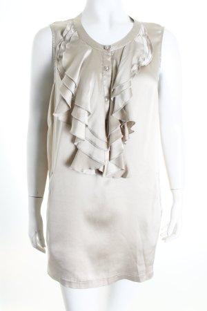 T-Bags ärmellose Bluse hellbeige Eleganz-Look