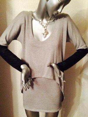 T-Bags Los Angeles Minikleid grau mit schwarz Gr. S