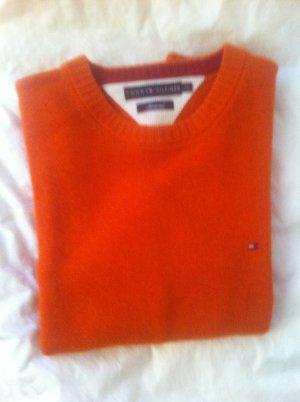 Tommy Hilfiger Kraagloze sweater neonoranje