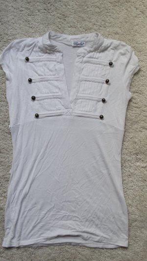 Voyelles T-shirt bianco-bronzo