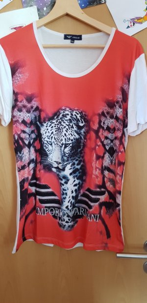 Armani T-Shirt white-red