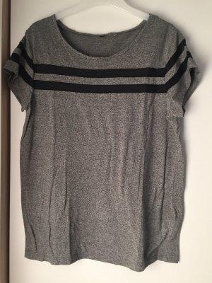 H&M Netshirt donkergrijs-zwart