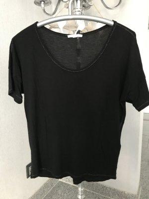 Esprit Camiseta negro-color plata