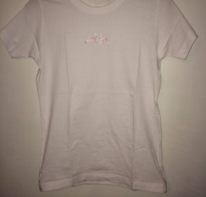 T-Shirt white-rose-gold-coloured cotton