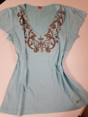 Esprit V-Neck Shirt turquoise