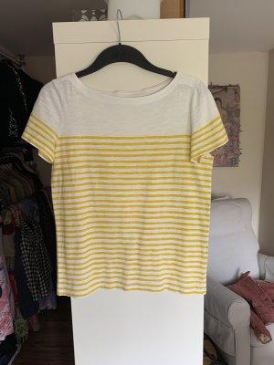 Esprit Boothalsshirt wit-geel