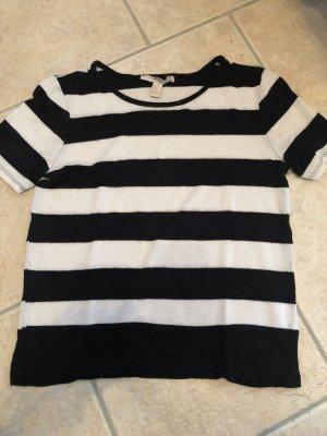Forever 21 Camisa tejida blanco-negro