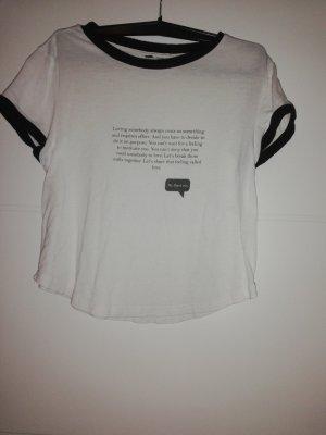 H&M T-shirt wit-zwart