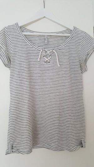 Fresh made Camiseta negro-blanco puro