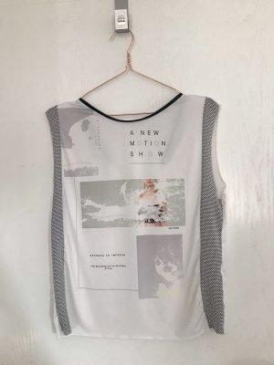 Zara Camiseta blanco