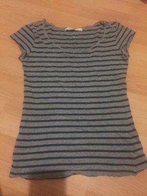 H&M L.O.G.G. Gestreept shirt grijs-bos Groen
