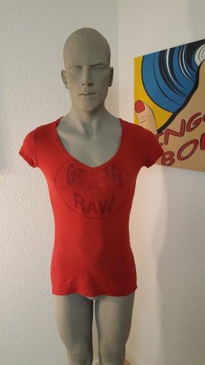 G-Star Raw Maglia con scollo a V rosso Cotone