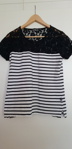 Camiseta blanco-azul oscuro