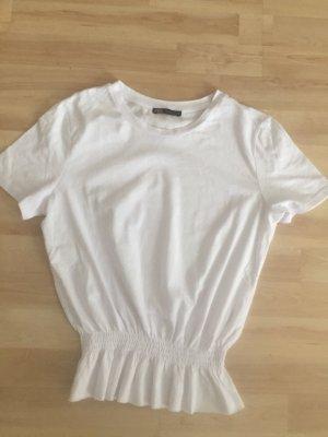 Zara Cropped shirt wit
