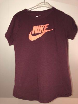 Nike Sportshirt paars-neonoranje