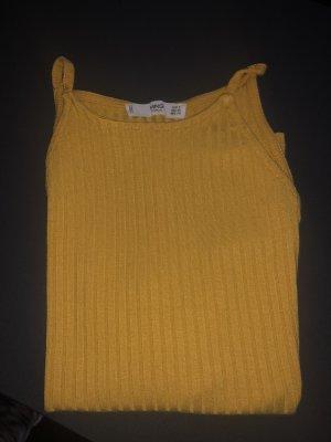 Mango Camisa acanalada naranja dorado