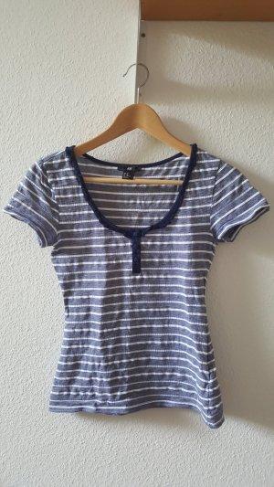 H&M T-shirt staalblauw