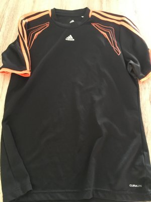 Adidas Sports Shirt black-neon orange