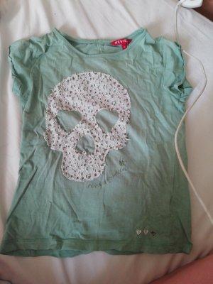 Review Sweat Shirt white-sage green cotton