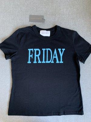 Alberta Ferretti T-Shirt black-cornflower blue