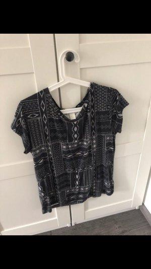 H&M T-shirt zwart-grijs