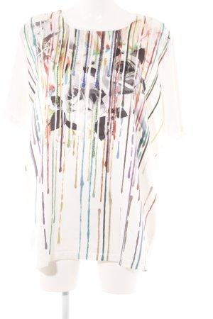 Camiseta estampado con diseño abstracto estilo extravagante
