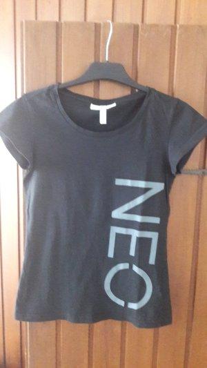 Adidas NEO Camiseta negro-gris Algodón