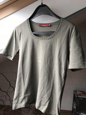 Bianco Boothalsshirt groen-grijs