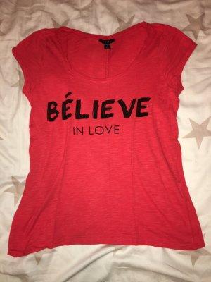 T-Shirt Amisu rot, schwarz in Größe S