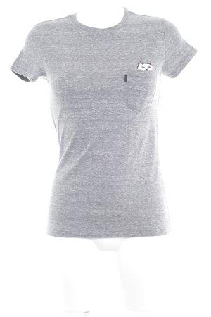 T-Shirt anthrazit-weiß meliert Skater-Look