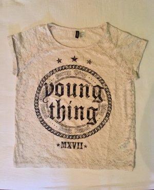 T-Shirt aus Spitze (H&M,Gr.S)