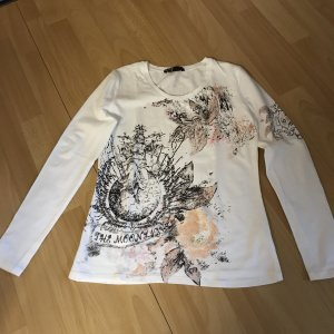 "T-Shirt ""Aust"" Gr. M weiß m. rosa/schwarz"
