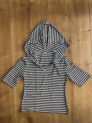 Hooded Shirt black-white