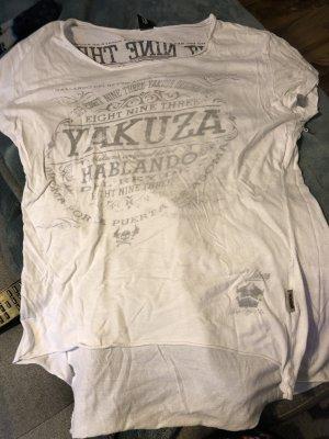 Yakuza Camiseta blanco-negro