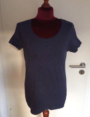 T-Shirt Basic Blaumeliert 40