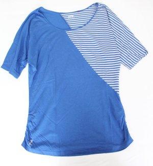 T-Shirt basic Streifen blau creme Esprit